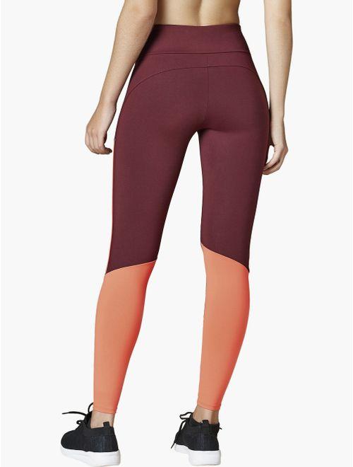 Calça Legging com Bolso Traseiro Color Block