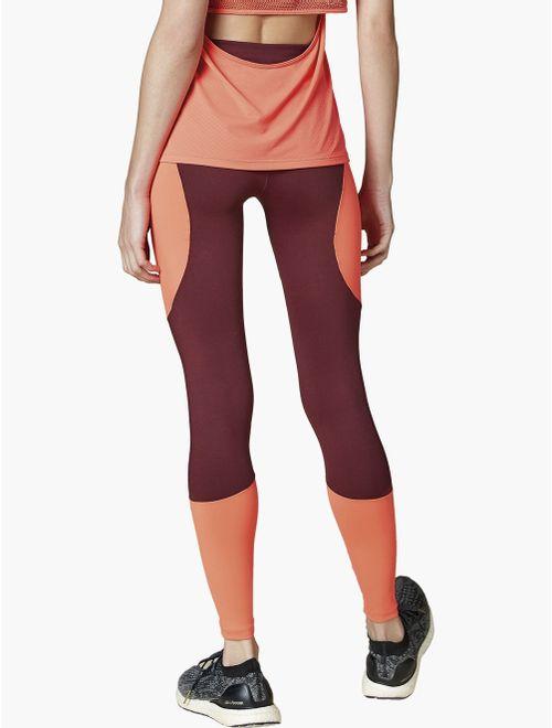 Calça Legging com Recortes Color Block