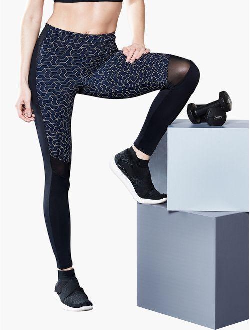 Calça Legging com Tule Geometric