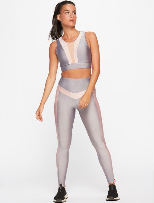 Calça Legging Com Recortes Lisa Sparkle